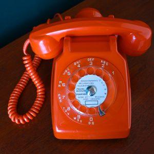 Téléphone Orange Socotel S63 à cadran rotatif