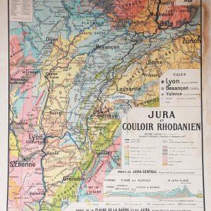 Carte Géographique - Jura et Couloir Rhodanien