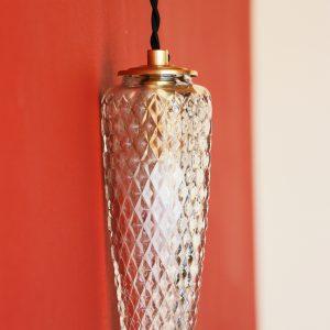 Baladeuses - Verre transparent ciselé en relief à forme conique
