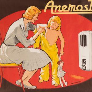 Ancienne Affiche Publicitaire - Radiateur Anemostat