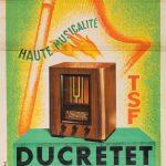 Ancienne Affiche Publicitaire - TSF Ducretet Thomson TSF Ducretet Thomson