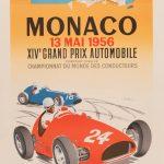 Ancienne Affiche Publicitaire Monaco Mai 56