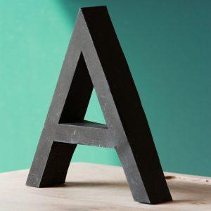 Lettre d'enseigne en métal A