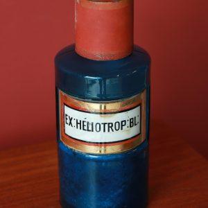 Pot d'apothicaire en verre bleu Ex.Héliotrop:Bl